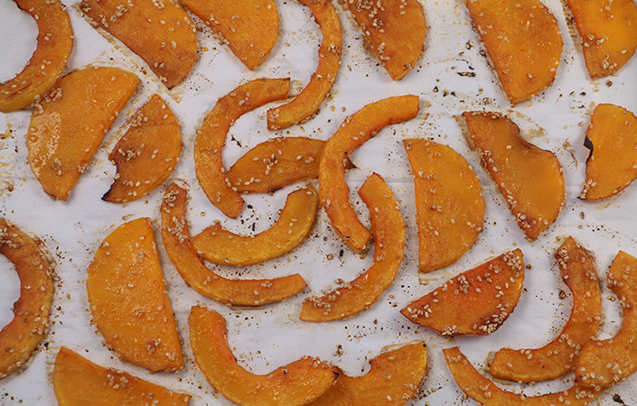 Roasted Butternut Squash with Gochujang