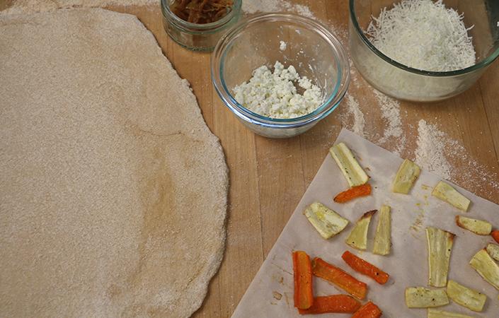 Roasted Carrot & Parsnip Flatbread