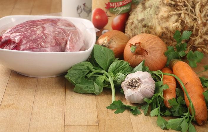 Bolognese with Carrots & Celeriac