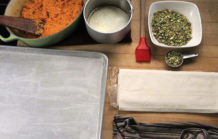 Carrot & Pistachio Baklava