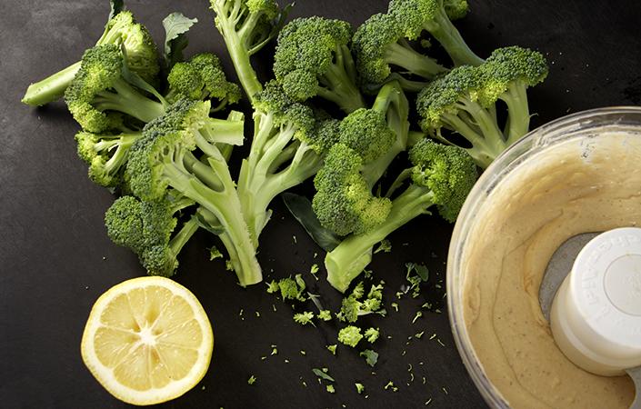 Grilled Broccoli with Tahini Sauce