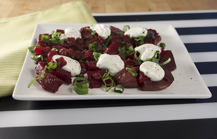 Smashed & Loaded Beets