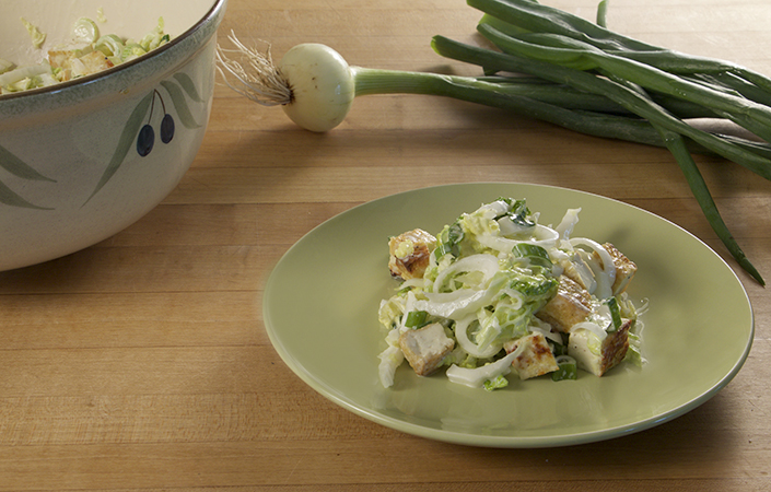 Napa Cabbage Tofu Salad
