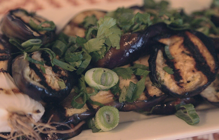 Grilled & Marinated Eggplant