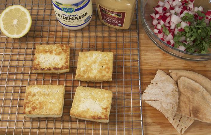 Tofu Salad with Radishes