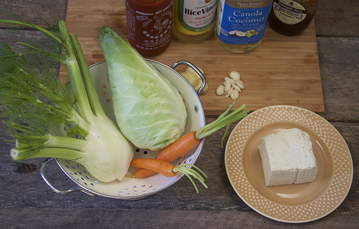 Sriracha Grilled Tofu & Fennel Slaw