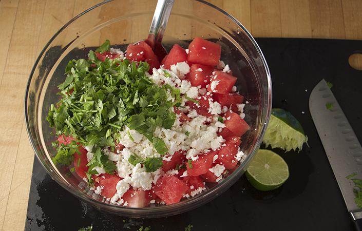 Watermelon & Feta Salad with Cilantro