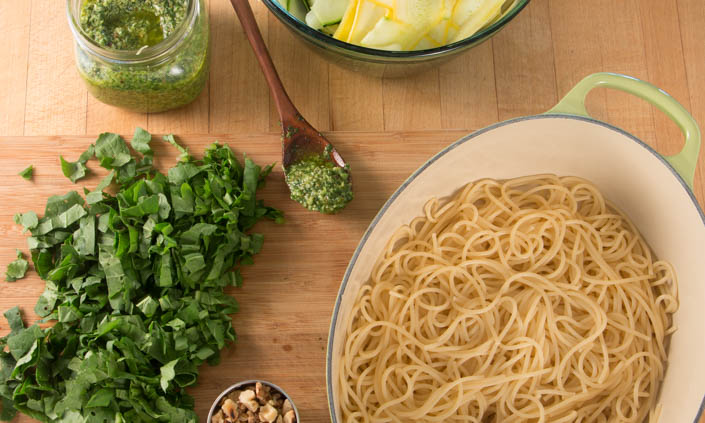 Summer Squash Noodles & Arugula Pesto (3 of 5)
