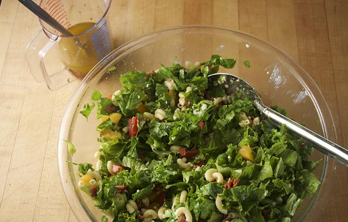 Chopped Salad with Honey Mustard Dressing