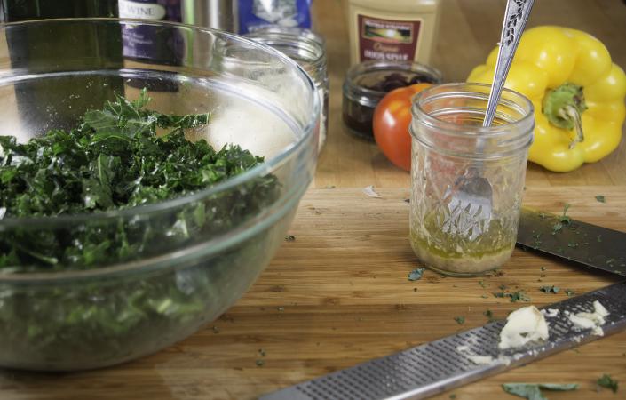 Kale Greek Salad