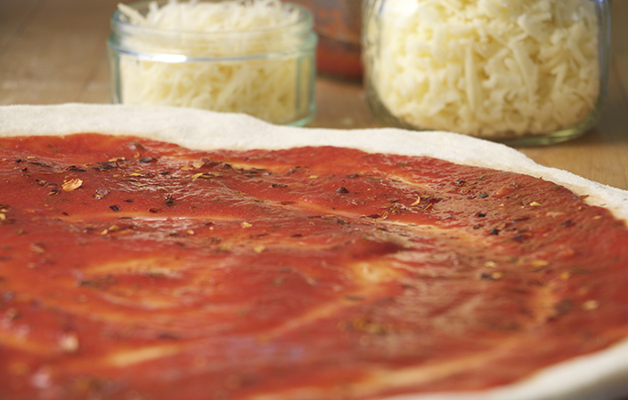 Spicy Radicchio & Fennel Pizza