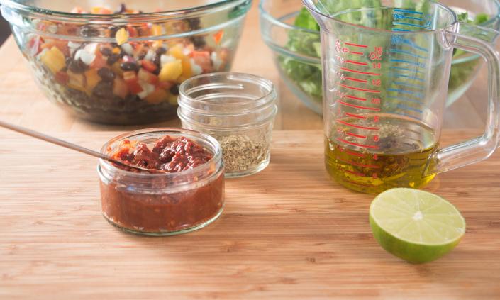 Black bean Salad with Chipotle Vinaigrette-3