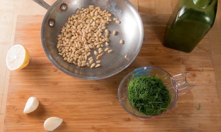 Dill Pesto Pilaf & Salmon
