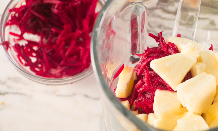 Pineapple Beet Smoothie