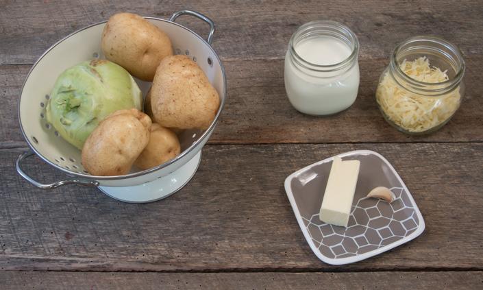 Potato Kohlrabi Gratin