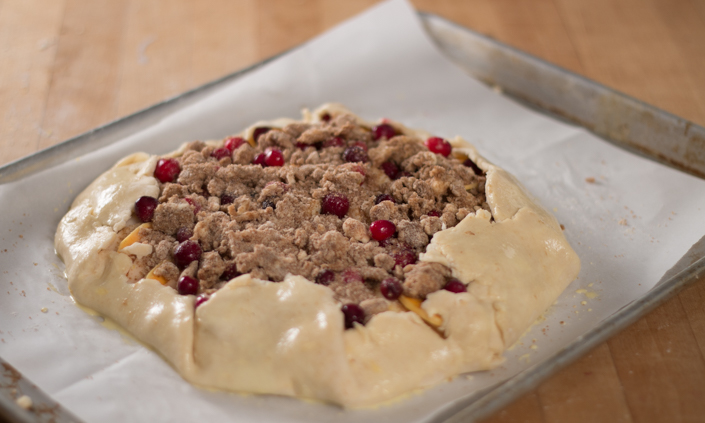 Apple-Cranberry Winter Squash Galette with Cinnamon Ice Cream-5
