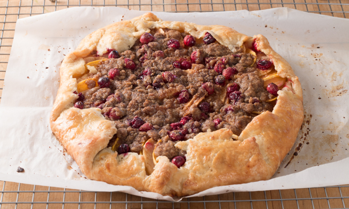Apple-Cranberry Winter Squash Galette with Cinnamon Ice Cream-6