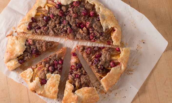 Apple-Cranberry Winter Squash Galette with Cinnamon Ice Cream-7