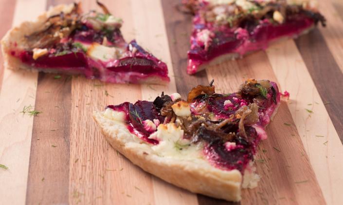 Caramelized Fennel & Beet Tart