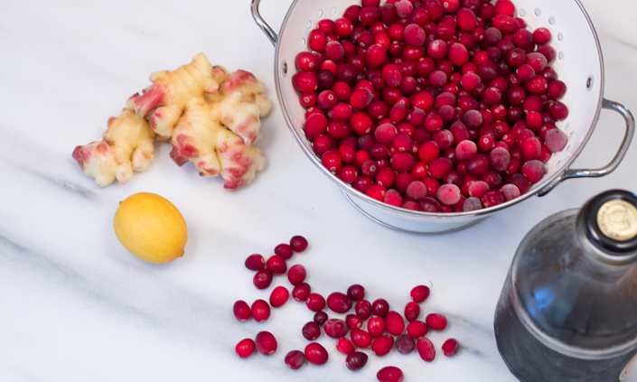Fresh Ginger Maple Cranberry Sauce-1