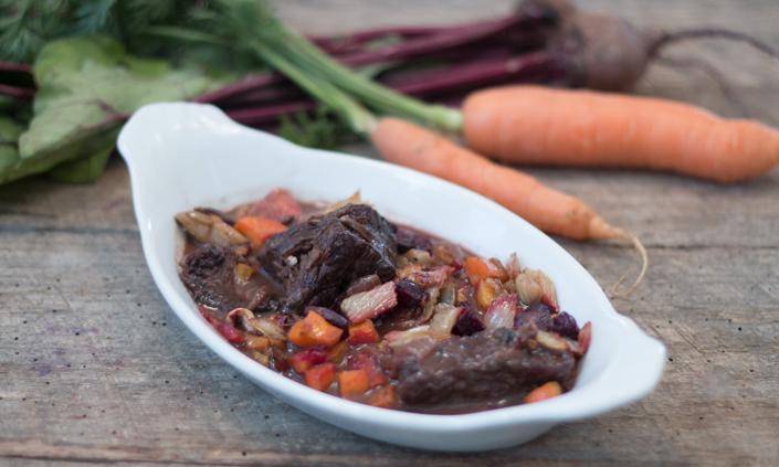 Roasted Root Vegetable Beef Stew
