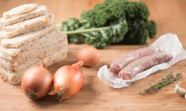 Rye, Sausage, & Kale Stuffing