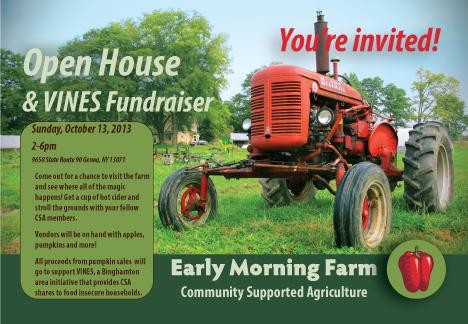 CSA Open House – Sunday, October 13th