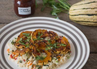 Chipotle Maple Delicata Squash & Cilantro Lime Rice
