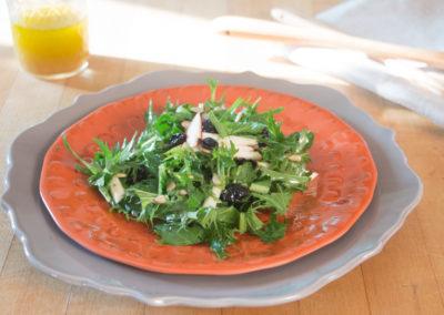 Early Apple Mizuna Salad