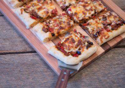 Eggplant Puttanesca Pizza
