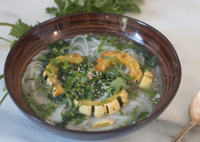 Miso Noodle Soup with Delicata Squash & Greens