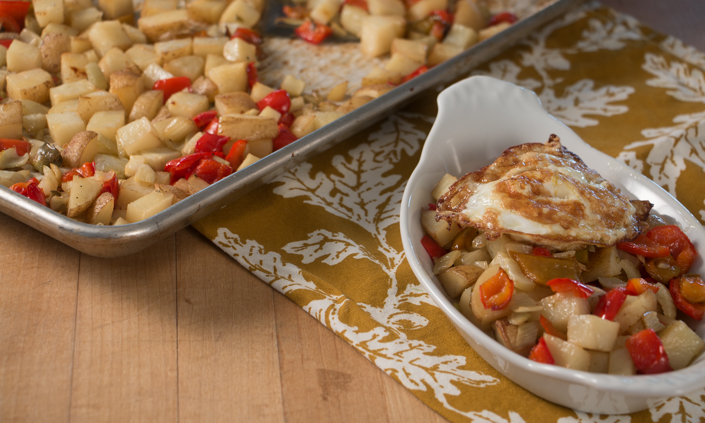 Roasted Red Pepper & Fennel Hash