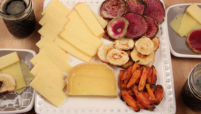Roasted Root Vegetable Cheese Platter