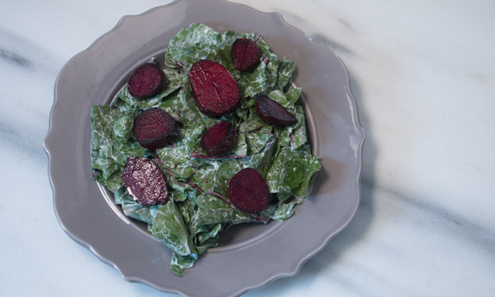 Pan-Crisped Beet Salad with Buttermilk Dressing