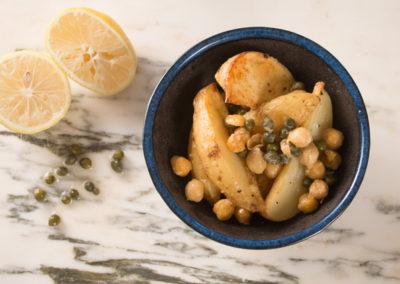 Skillet Roasted Potato & Chickpea Salad