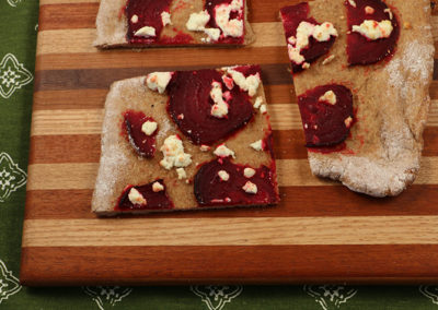 Beet and Goat Cheese Flatbread