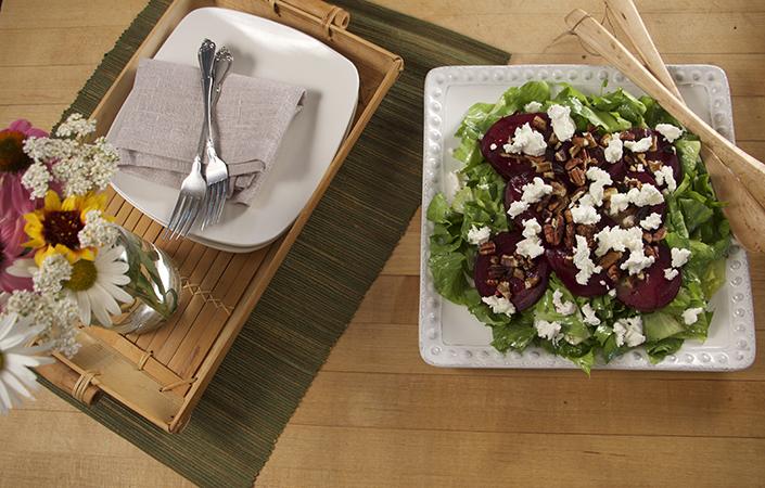 Beet, Goat Cheese, & Escarole Salad