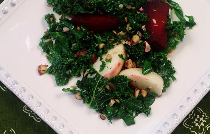 Hakurei Turnip, Beet, & Kale Medley with Hazelnuts