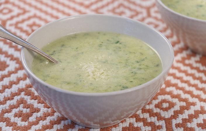 Cream of Swiss Chard Gruyere Soup
