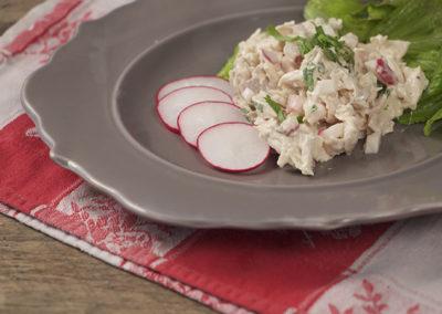 Chicken Salad with Radishes