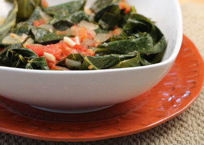 Stewed Collard Greens with Tomatoes