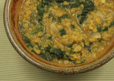Curried Mustard Greens and Lentils