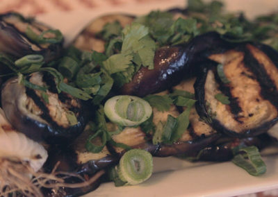 Grilled & Marinated Eggplant