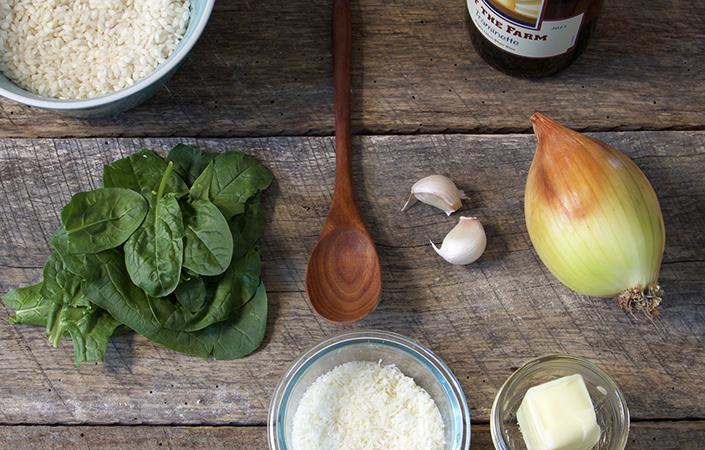 Spinach & Mushroom Risotto