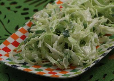 Creamy Cabbage Slaw with Feta