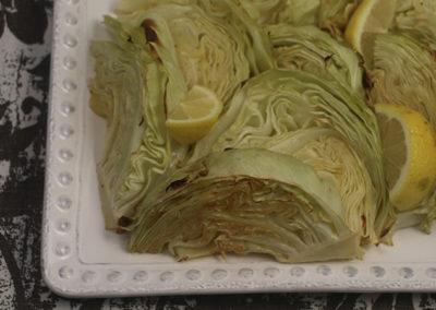 Roasted Cabbage with Lemon