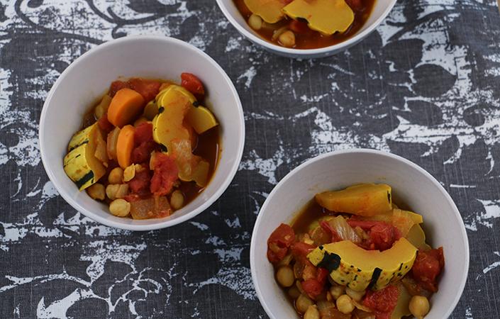 Delicata Squash Moroccan Stew