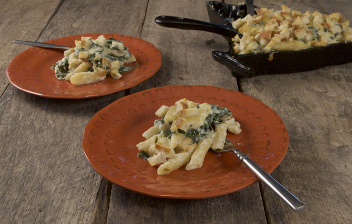 Kale Mac & Cheese for Two