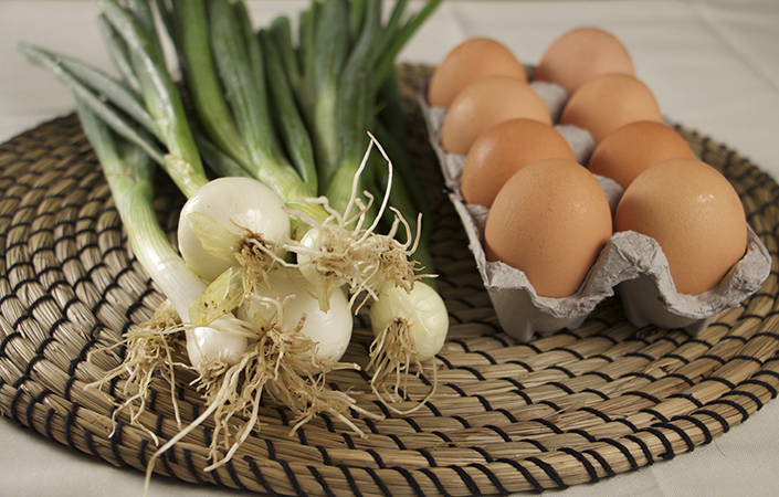 Spring Onion Frittata