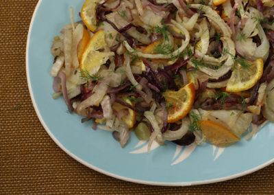 Roasted Orange Fennel Salad